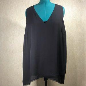 RACHEL RACHEL ROY Black Sleeveless Tunic, size 2X
